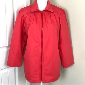 London Fog Raincoat Jacket Coral Sz 8P